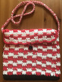 "*Hand Crocheted Handbag, ONE-OF-A KIND, Created by ""Hrvatska Designs"" using ŠAHOVNICA Pattern! NEW! SOLD!"