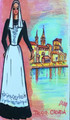 ****Magnet, Original Image of Costume from TROGIR by Croatian Artist, DAJNA: ONE AVAILABLE! CLEARANCE!