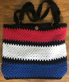 "*Hand Crocheted Handbag, ONE-OF-A KIND, Created by ""Hrvatska Designs"" using Croatian Red/White/Blue Colors! NEW! SOLD!"