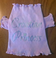 """*""""Croatian Princess"""" Doggie T-Shirt, Light Pink, X-Small (fits dogs up to 4 lbs): CLEARANCE!"""
