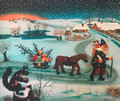 """Christmas"" by Ivan Generalic, Master Naive Artist  1962, Printed on CANVAS! CLEARANCE! (Limited Quantity)  SOLD OUT!"