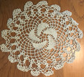 ****Handmade Crocheted Lace from the Estate of a Croatian Family: Ecru Color with Whirligig Pattern: NEW LISTING!