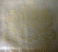 *Gold Satin-Embossed Pillow Cover with CROATIAN FOLK MOTIF, 100% Cotton, Imported from Croatia! NEW! (Gold Sm)  ONLY ONE AVAILABLE! (Click to Enlarge and See the Intricate Design!)