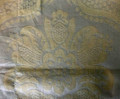 *Gold Satin-Embossed Pillow Cover with CROATIAN FOLK MOTIF, 100% Cotton, Imported from Croatia! NEW! (Gold Lg) ONLY ONE AVAILABLE! (Click to Enlarge and See the Intricate Design!)