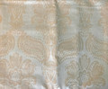 *Beige-Gold Satin-Embossed Pillow Cover with CROATIAN FOLK MOTIF, 100% Cotton, Imported from Croatia! NEW! (Beige-Gold XL) ONLY ONE AVAILABLE! (Click to Enlarge and See the Intricate Design!)