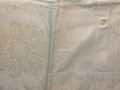 *Ivory Satin-Embossed Pillow Cover with CROATIAN FOLK MOTIF, 100% Cotton, Imported from Croatia! NEW! (Ivory Lg) ONLY ONE AVAILABLE! (Click to Enlarge and See the Intricate Design!)