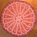 Handmade Crocheted Lace from Croatia by Durda Janes, ONE-OF-A-KIND: Discounted! (CIRCULAR with CROATIAN 'TROBOJNICA'---Red, White, Blue!) #27
