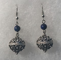 Earrings with Lapis Lazuli Beads and Botuni, Imported from Croatia: NEW! (Large): STEEPLY DISCOUNTED PRICE!