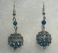 Earrings with Lapis Lazuli Beads and Botuni, Imported from Croatia: NEW! (Medium): STEEPLY DISCOUNTED PRICE!