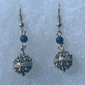 Earrings with Lapis Lazuli Beads and Botuni, Imported from Croatia: NEW! (Small): STEEPLY DISCOUNTED PRICE!