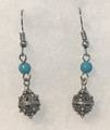 Earrings with Turquoise Beads and Botuni, Imported from Croatia: NEW! (Small/Dainty): STEEPLY DISCOUNTED PRICE!