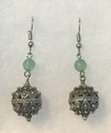 Earrings with Jade Beads and Botuni, Imported from Croatia: NEW! (Medium): STEEPLY DISCOUNTED PRICE!