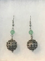Earrings with Jade Beads and Botuni, Imported from Croatia: NEW! (Small): STEEPLY DISCOUNTED PRICE!