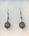 Earrings with Turquoise Beads and Botuni, Imported from Croatia: NEW! (Small): STEEPLY DISCOUNTED PRICE!