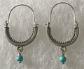 KONAVLE Earrings with Turquoise Bead, ONE-OF-A-KIND: Imported from Croatia (Medium) STEEPLY DISCOUNTED PRICE!
