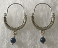 KONAVLE Earrings with Lapis Lazuli Bead, ONE-OF-A-KIND: Imported from Croatia (Medium) STEEPLY DISCOUNTED PRICE!