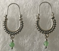 KONAVLE Earrings with Jade, ONE-OF-A-KIND: Imported from Croatia (Small) STEEPLY DISCOUNTED PRICE!