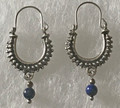 KONAVLE Earrings with Lapis Lazuli Bead, ONE-OF-A-KIND: Imported from Croatia (Small) STEEPLY DISCOUNTED PRICE! SOLD OUT!