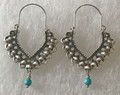 KONAVLE Earrings with Turquoise Bead, ONE-OF-A-KIND: Imported from Croatia (Large Fancy) STEEPLY DISCOUNTED PRICE! SOLD OUT!