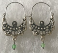 KONAVLE Earrings with Jade, ONE-OF-A-KIND: Imported from Croatia (Medium Size, Fancy) STEEPLY DISCOUNTED PRICE!