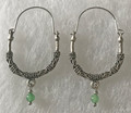KONAVLE Earrings with Jade, ONE-OF-A-KIND: Imported from Croatia (Large Contemporary) STEEPLY DISCOUNTED PRICE!