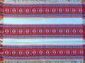 *(1A) PLACEMATS, Woven Trobojnica (Croatian 3 Color) Folk Pattern: Imported from Croatia! 15 in x 18 in, DISCOUNTED PRICE! NEW!