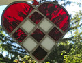 SUNCATCHERS, Stained Glass, Handmade and Uniquely CROATIAN! (Red-White)  LARGE SIZE!  NEW!