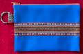 Zippered Bag with Prigorje Trim, Imported from Croatia, Croatian Blue: NEW 10-21!