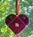 CHRISTMAS ORNAMENTS and/or SUNCATCHERS, Stained Glass, Handmade and Uniquely CROATIAN, LICITARSKA SRCA:  SMALLER SIZE! NEW 10-21!