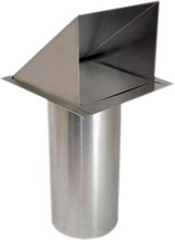 Wall Vent with Damper and Screen - 6 Inch (SDWVA 6)