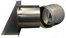 Wall Vent Kit with Internal Damper (4 Inch)    (RDWVA 4)