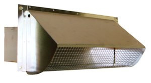 Rectangular Wall Vent with Damper and Screen (3 25 x 10)