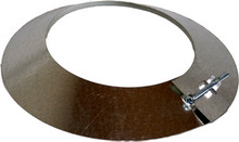 Galvanized metal Storm Collar - 10 inch