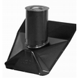 Roof Vent Pipe Boot - Black Matte - Standard Pitch - 4 Inch