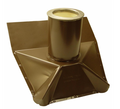 Roof Vent Pipe Boot - Brown - Standard Pitch - 4 Inch