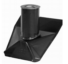 Roof Vent Pipe Boot - Black Matte - Steep Pitch - 4 Inch