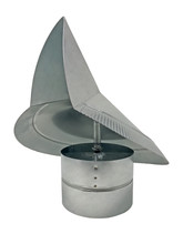 Wind Directional Cap - Galvanized - 4 Inch  (WDC4)