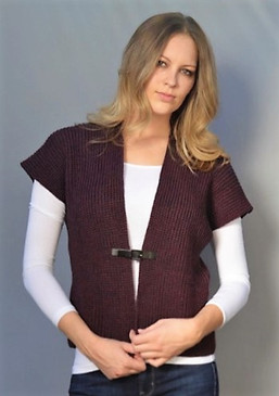 Gilet Sweater with Center Buckle--Available in 2 Colors