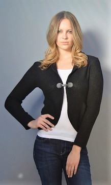 Cardigan with Buckle Enclosure and Pockets--Available in 2 Colors
