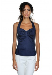 Cotton Center Tank with Stretchy Back--Available in 2 Colors