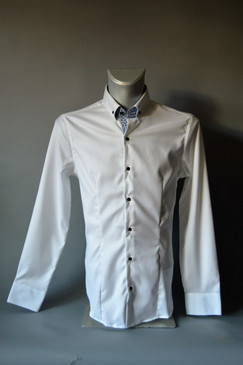 Slim Fit Classic Style Polished Cotton Shirt
