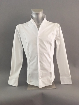Classic Style Shirt with Stretchy Material in Back
