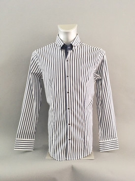 Classic Style Navy and White Striped Shirt