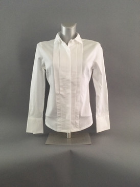 Classic Style Blouse with Vertical Pleats (Available in 2 Colors)