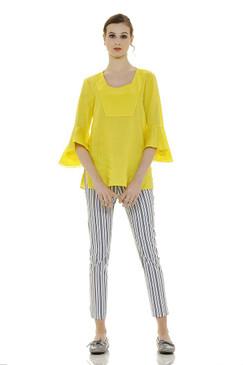 Long Flared Linen Tunic