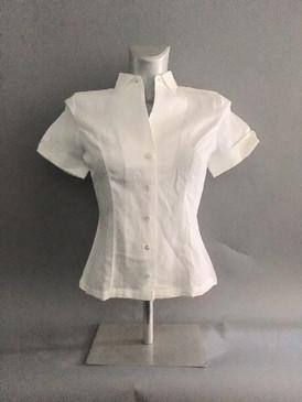 Classic Linen Short Sleeve Blouse