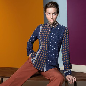 Light Blouse with Dots Motif