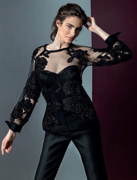 Sequin Embroidery Blouse