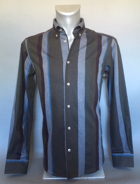 Traditional Fit Striped Shirt in 100% Cotton