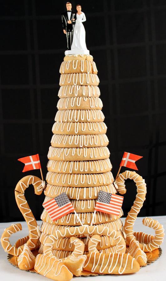 Kransekage or Almond Ring Cake - 12 Ring - Olsen's Danish Village Bakery